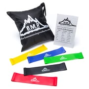 Black Mountain Products 3 Resistance Loop Bands with Starter Guide and Carrying Bag (Loop Band Set 5)