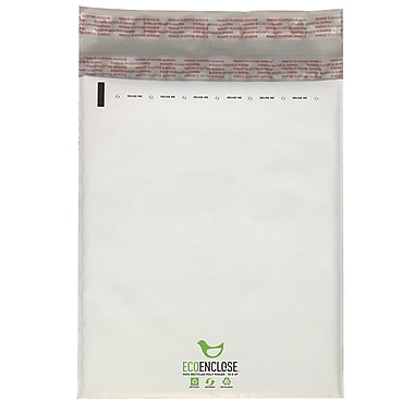 EcoEnclose Recycled Poly Mailer, 100% Recycled Content, 6