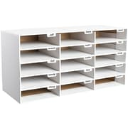 Adir Office File Organizer Classroom Office Home White 15 Slots (501-15-WHITE)