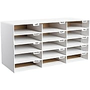 Adir Office File Organizer Classroom Office Home, White, 15 Slots (501-15-WHITE)