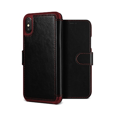 VRS Design - Étui Layered Dandy pour iPhone X, noir (VRSIP8LDDBK)