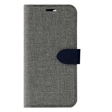 Blu Element Simpli Folio For Use With iPhone X, Grey/Navy (BSPI8GR)