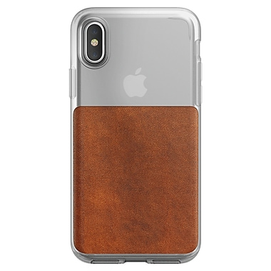 Nomad Clear Case For Use With iPhone X, Brown (112-9846)