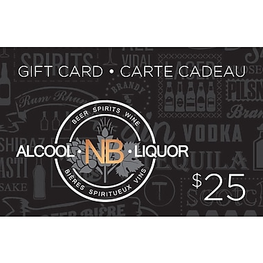 New Brunswick Liquor/Alcool - Carte-cadeau de 25 $