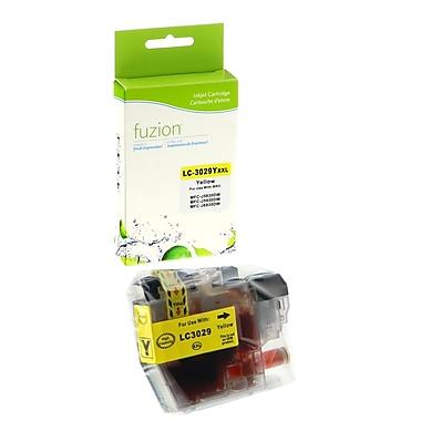 Fuzion - Cartouche jet d'encre jaune compatible Brother LC3029, haut rendement (IJLC3029Y)