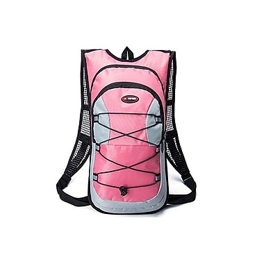 Etcbuys (ETC-2-ZIP-PNK) Hydration Tactical Backpack, Pink