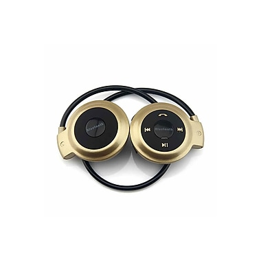 Etcbuys Bluetooth Stereo Headset With Mic And Control, Gold