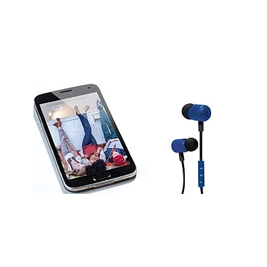 Etcbuys Case Logic Bluetooth Smooth Magnetic Earbuds, Blue