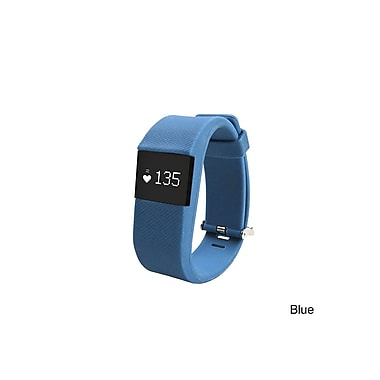 Etcbuys Bluetooth Fitness Activity Tracker With Heart Rate Monitor, Blue