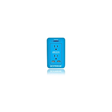 Etcbuys Xtreme 2 Outlet Surge Wall Tap with Dual Port USB