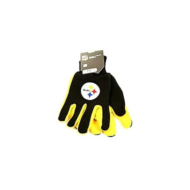 Etcbuys (NFL-GLV-STEELER) NFL Two Tone Licensed Gloves, Pittsburgh Steelers