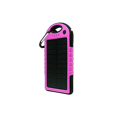 Etcbuys 5000Mah Solar Powered Water-Resistant Battery Pack, Pink