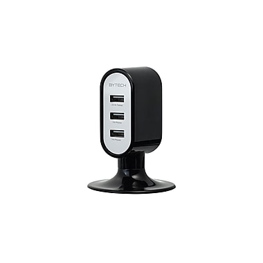 Etcbuys Bytech 3.4A 3 USB Port Charge Station, Black