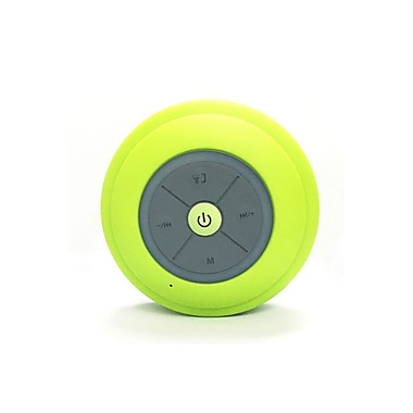 Etcbuys Bluetooth Shower Speaker with FM Radio, Built in Mic and LED Mood Light, Green