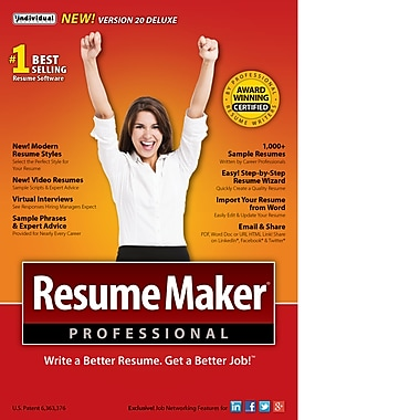 ResumeMaker Professional Deluxe 20, Windows [Download]