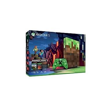 Xbox One S – Console Xbox One S de 1 To, ensemble Minecraft édition limitée avec manette Creeper