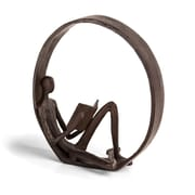 Danya B Encircled Reader Iron Sculpture  (ZI15683)