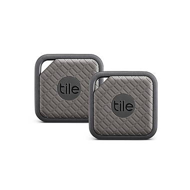 Tile Sport Bluetooth Item Tracker, Graphite, 2/Pack