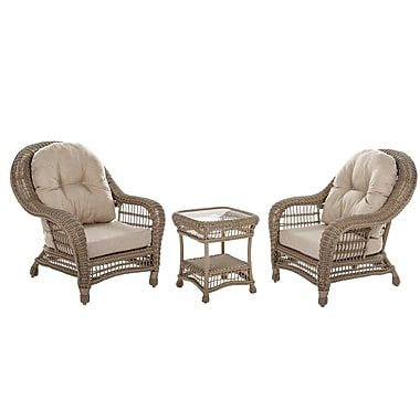 W Home Collection Outdoor Garden Patio Cappuccino Furniture Conversation Set