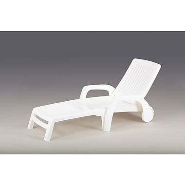 Carabelle Folding Lounge Chair, White (BSL285WT)