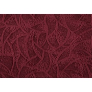"Monarch Pillow, 18""x 18"", Dark Red Floral Velvet"