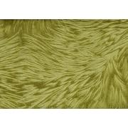Monarch - Coussin, 18 x 18 po, velours vert lime avec motifs de plumes
