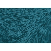 """Monarch Pillow, 18""""x 18"""", Turquoise Feathered Velvet"""