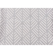 "Monarch Pillow, 18""x 18"", Light Grey Geometric Design"