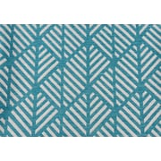 "Monarch Pillow, 18""x 18"", Teal Geometric Design"