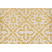 "Monarch Pillow, 18""x 18"", Yellow Motif Design"