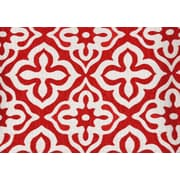 "Monarch Pillow, 18""x 18"", Red Motif Design"