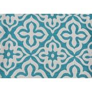 "Monarch Pillow, 18""x 18"", Teal Motif Design"