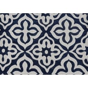 "Monarch Pillow, 18""x 18"", Dark Blue Motif Design"