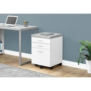 Monarch White 3-Drawer Filing Cabinet (I 7051)