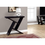 "Monarch 36""L Hall Console Accent Table, Cappuccino"