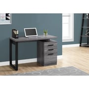 "Monarch 48""L Computer Desk with 2 Storage Drawers, Grey and Black"