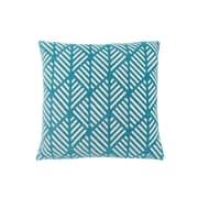 "Monarch 18""x 18"" Teal Geometric Design Decorative Pillow (I 9210)"