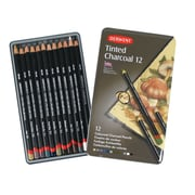 Derwent Tinted Charcoal Pencil 12 Colour Tin