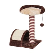 PetPals Mojo Assembled Cat Tree with Sisal Post, Cream/Chocolate (PP1062A)