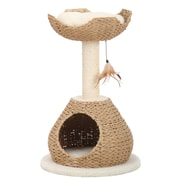 PetPals Recycled Paper Cat House with Perch (PP2574)