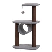 PetPals Teeny Cat Tree with Hanging Balls, Grey/Chocolate  (PP5476)
