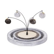 PetPals Maze Cat Toy with Post and Racing Ball, Grey (PP6339)