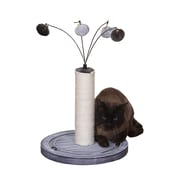 PetPals Raindrop Cat Toy with Post, Grey (PP6341A)