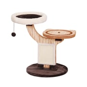 PetPals Twine Natural Wood Two Level Cat Tree with Perches (PP6350A)