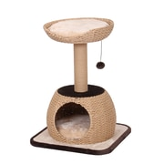 PetPals Bliss Natural Cat Tree with Condo and Paper Rope Post (PP6371A)