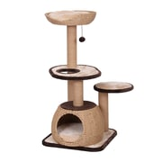 PetPals Reign Natural Cat Tree with Condo and Paper Rope Post (PP6375A)