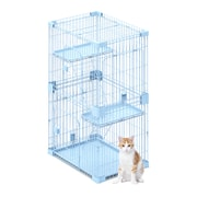 PetPals Wirehouse Two-Level Cat Cage, Blue (SY-D007)