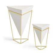 Umbra Trigg Tabletop, White and Brass, 2/Pack (1004372-524)