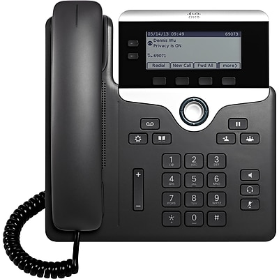 Cisco 7821 IP Phone, Cable, Wall Mountable,