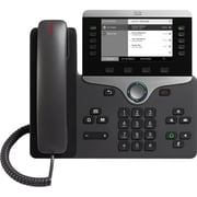 Cisco 8811 IP Phone, Cable, Wall Mountable, Desktop, Charcoal (CP-8811-3PCC-K9=)
